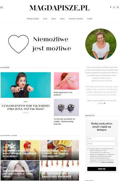 Screen Bloga MagdaPisze.pl